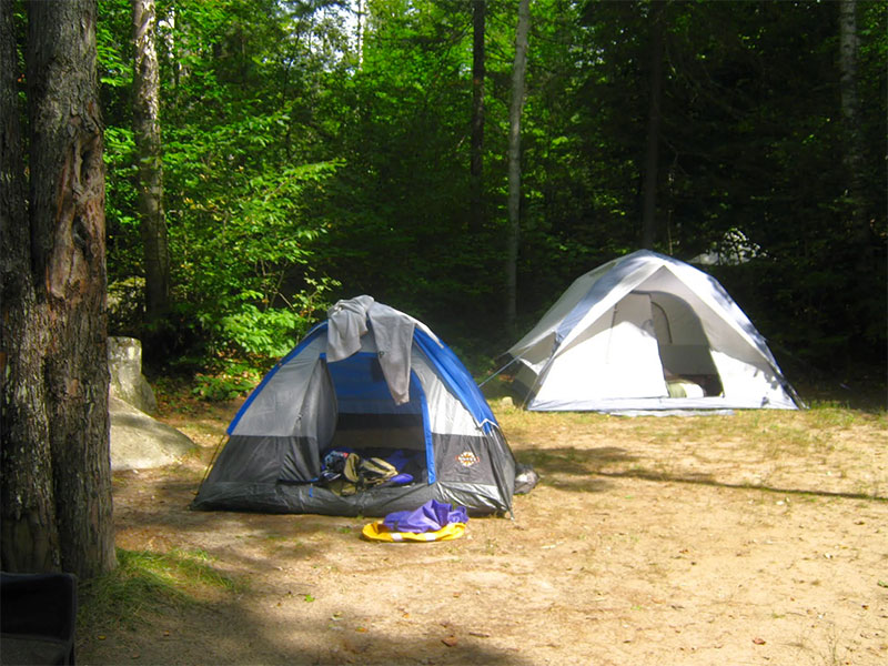 A tent-site at Big Deer State Park & Vermont State Parks - Big Deer