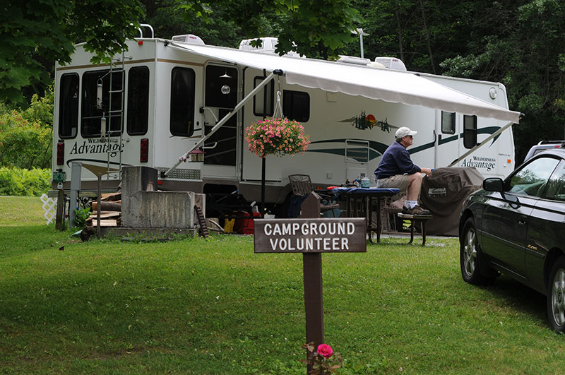 Campground volunteer