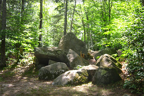 Boulders at Big Deer State Park (photo credit: Matt Parsons)