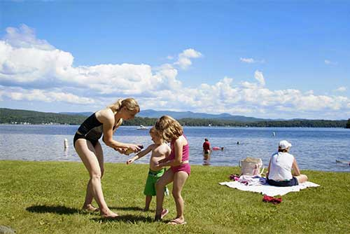 Fun in the sun at Bomoseen State Park (photo credit: Jeff Clarke)