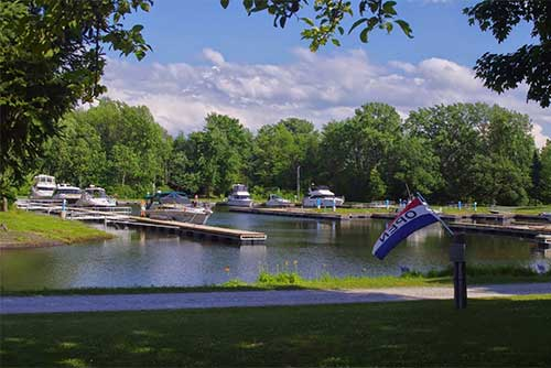 The marina at Burton Island State Park (photo credit: Jessica Clarke)