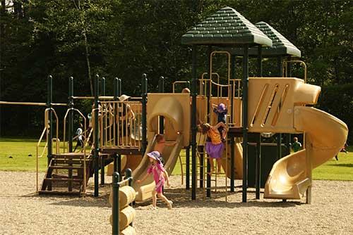 The playground at Camp Plymouth State Park (photo credit: James La Morder)