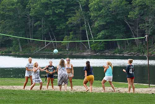 A volleyball game at Camp Plymouth State Park (photo credit: Robert Kautz)