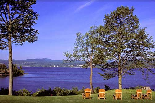 Adirondack chairs offer a great view at D.A.R. State Park
