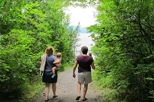 Walking down to Lake Champlain (photo credit: Ashley Clark)