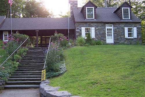 The stone park house and office, built by the CCC