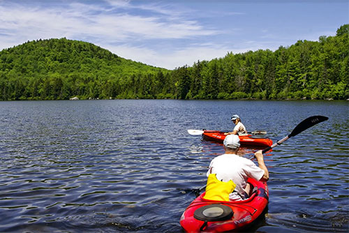 Kayaking at Kettle Pond State Park (photo credit: Justin Lajoie)