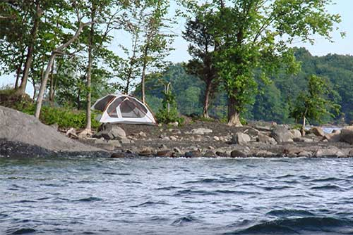The Ironwood campsite at Knight Island State Park (photo credit: Sara Hayes)