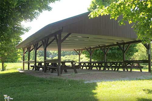 The picnic pavilion at Knight Point State Park (photo credit: Josh Rhodes)