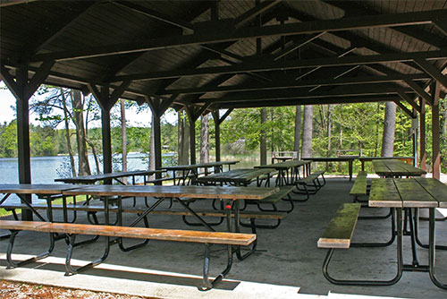 Picnic pavilion at Lake Shaftsbury State Park