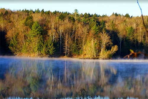 Morning mist on the reservoir (photo credit: Jeremiah Johnson)