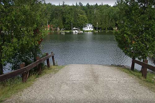 The boat launch at Maidstone State Park