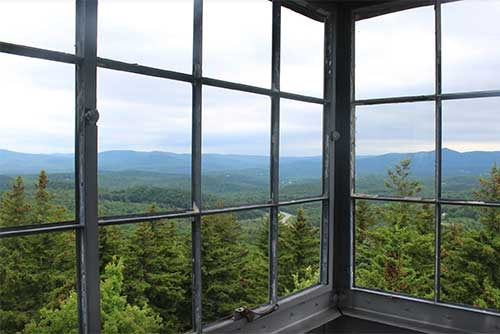 The view from the fire tower at Molly Stark State Park (photo credit: Jess Lubas)