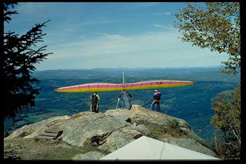 Mt. Ascutney is a great place for hang gliders!