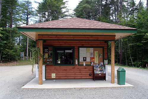 The park office at Quechee State Park (photo credit: Sharon Krampitz)