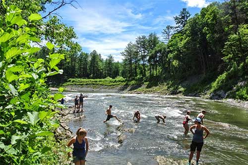 Playing in the river at Quechee State Park (photo credit: Paul Detzer)