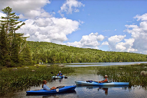 Kayaking at Ricker Pond State Park