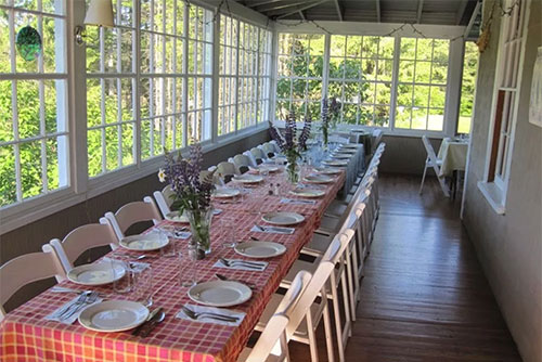 The dining room at Seyon Lodge State Park