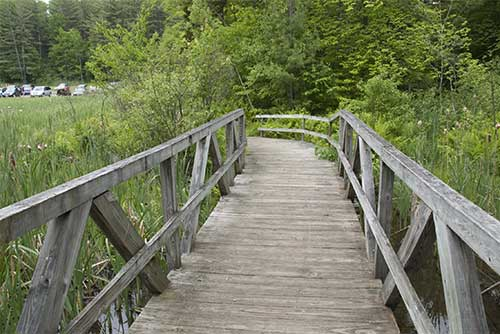 The bridge at Silver Lake State Park (photo credit: Pembroke Werden)