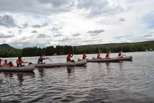 A canoe race at Stillwater State Park (photo credit: Ashley Lurtsema)