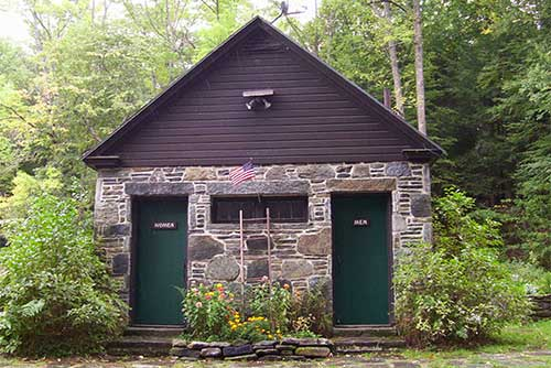 Bathhouse at Townshend State Park