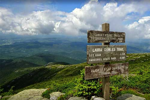 Gorgeous view from Mt. Mansfield at Underhill State Park (photo credit: Justin Lajoie)