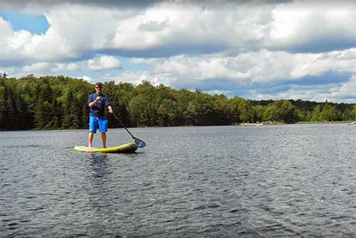 Stand-up paddleboarding at Woodford State Park (photo credit: Brooke McKeen)
