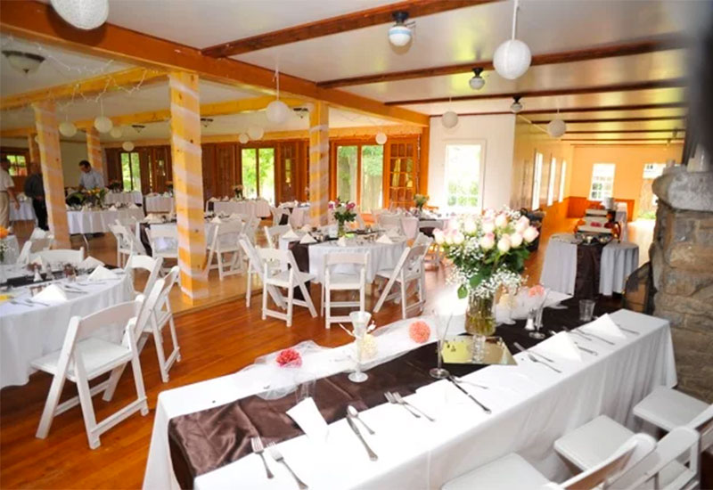 The banquet hall is ideal for wedding receptions