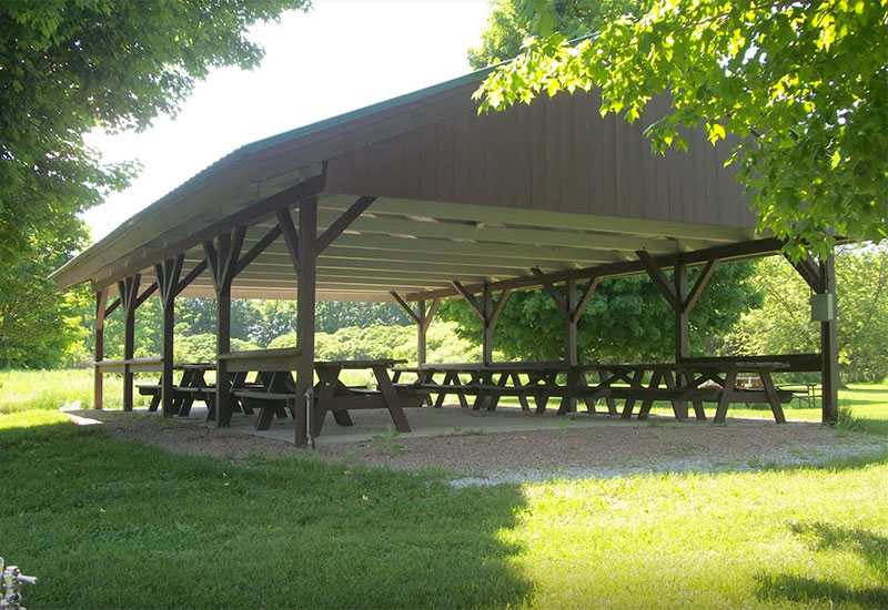 The pavilion can be rented for group functions