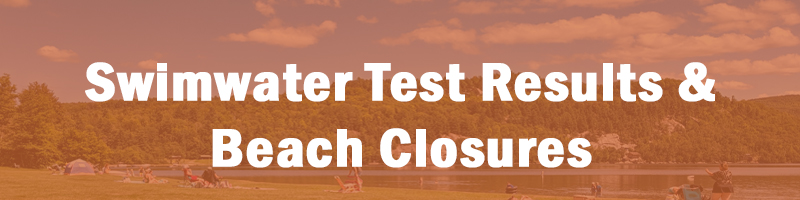 See beach status and swim water test results