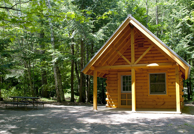 The Bobcat cabin at Little River State Park