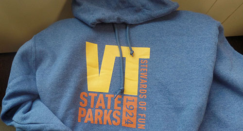 VT State Parks blue hoodie