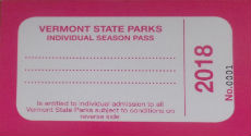 VT State Parks individual pass