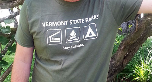 VT State Parks green t-shirt