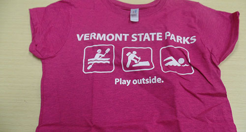 VT State Parks pink t-shirt