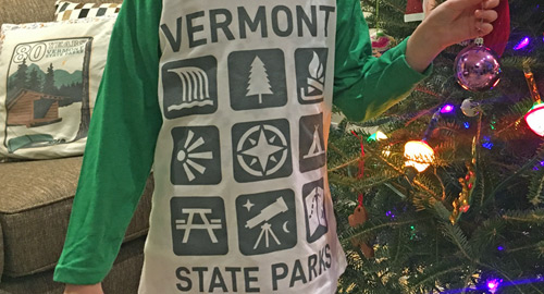 VT State Parks youth icon t-shirt