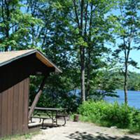 lean-to at Stillwater State Park