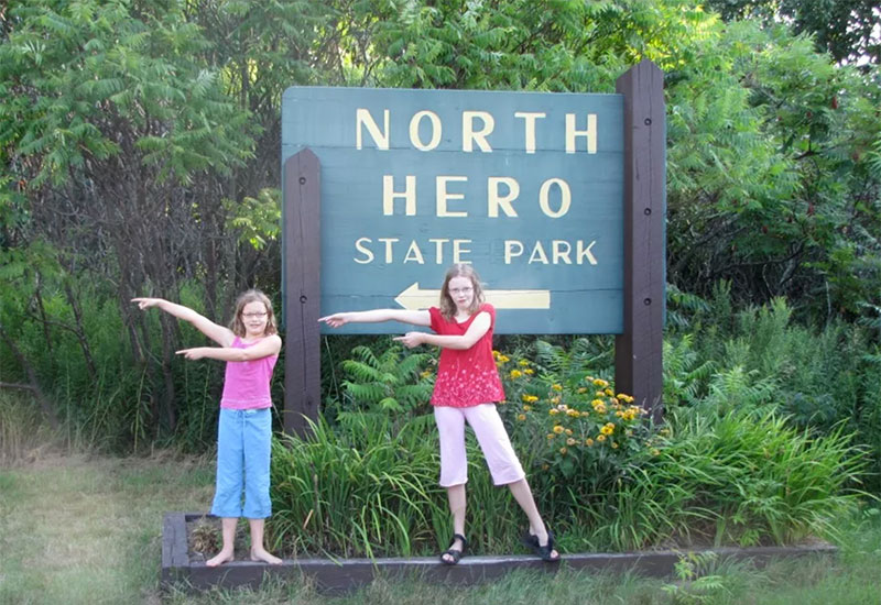 North Hero State Park entrance