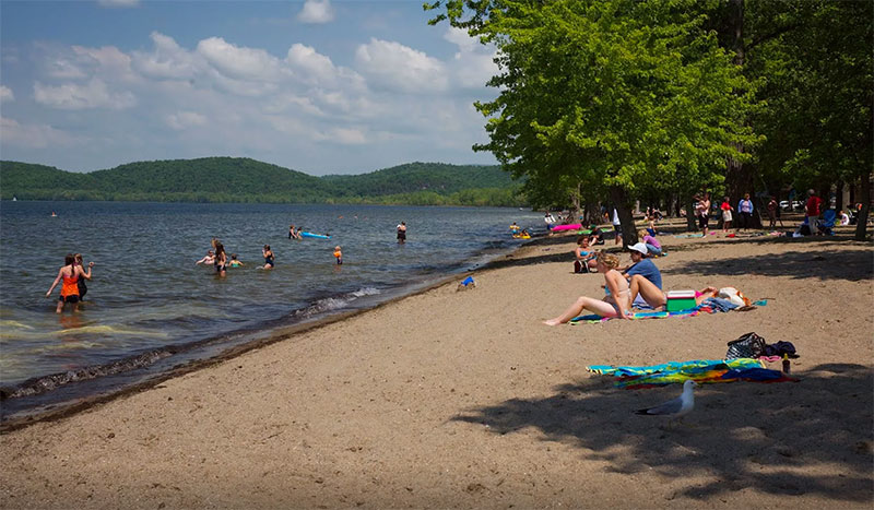 Sand Bar is known for its awesome beach on Lake Champlain