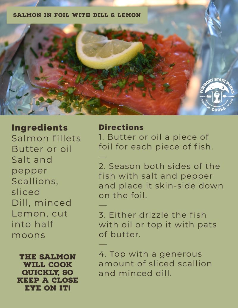 Salmon in Foil with Dill and Lemon